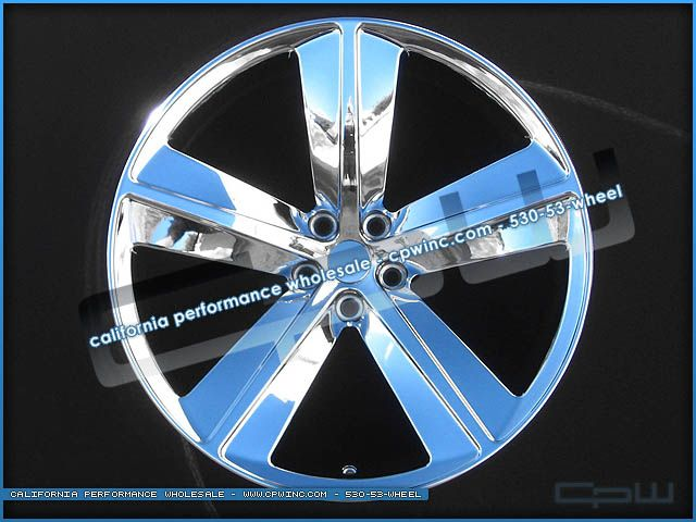 22 INCH CHROME WHEELS RIMS TIRES PACKAGE FITS DODGE CHARGER MAGNUM